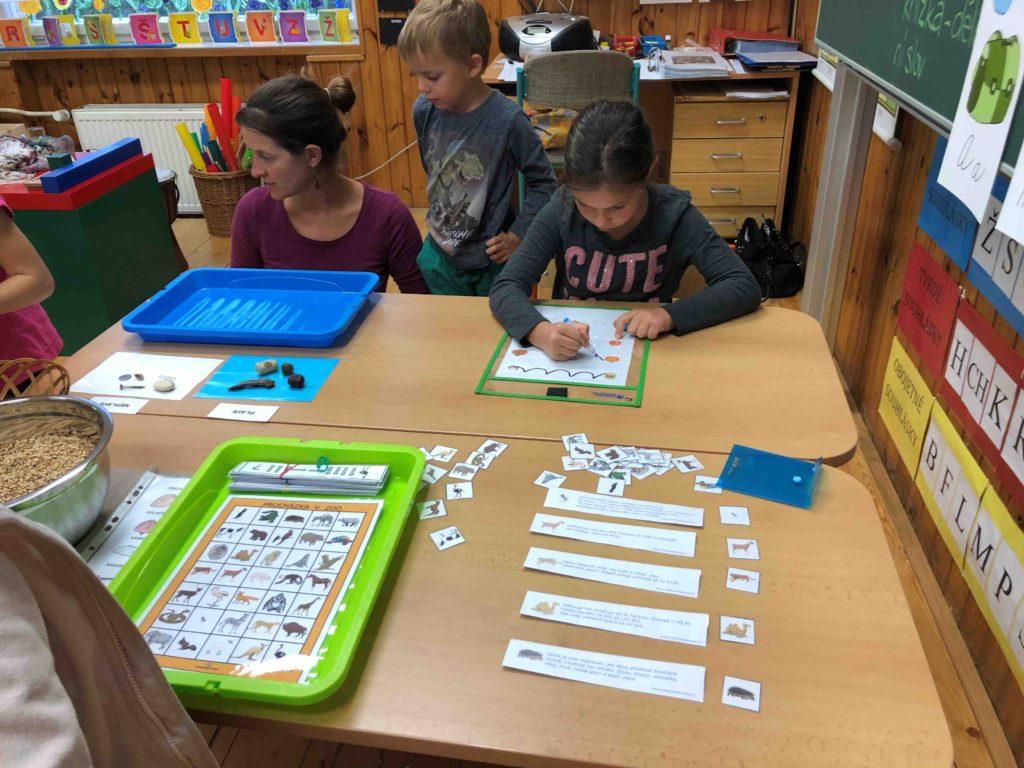 Montessori školička Smyslová výchova